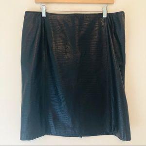 Ralph Lauren 100% Leather Straight Pencil Skirt